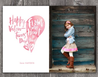 My Heart to Yours - Custom Digital or Printed Photo Valentine's Day Greeting