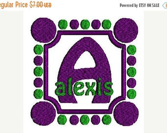 SALE 65% OFF Bold Dots Machine Embroidery Monogram Fonts Designs Instant Download Sale
