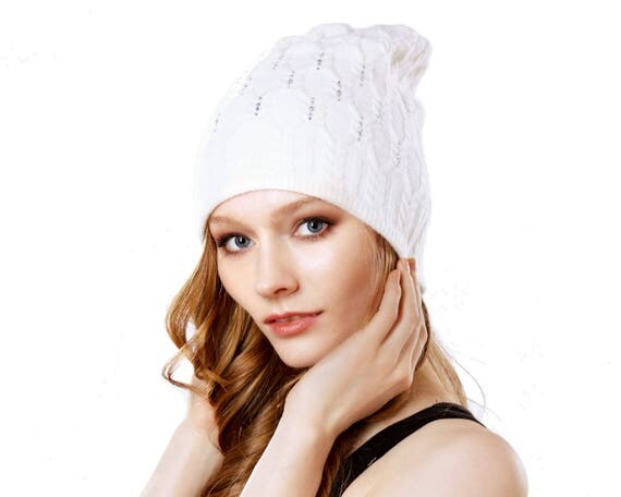 Knit Hat For Women Women's Gift Slouchy Beanie For Women Cashmere Knit Hat Slouchy Hat Winter Hat Gift For Her Ski Hat Warm Hat Cable Knit