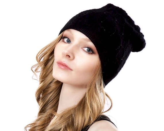 Knit Cashmere Wool Hat Knit Beanie Winter Hat Warm Hat Fall Hat Women's Hat Gift For Her Women's Gift Cable Knit