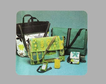 Bags and accessories pattern Simplicity 4391 Elaine Heigl design UNCUT Messenger bag Cellphone case and more