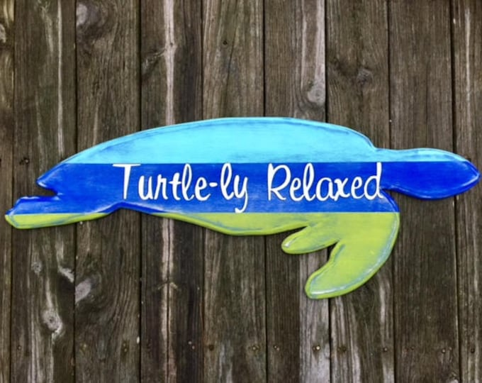 Sea Turtle custom House Sign Outdoor art swimming turtle lover beach home decor cottage nautical rescue Beach House Dreams Home OBX N E S T