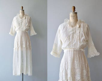 Ambleside dress | antique Edwardian dress | white cotton 1910s tea dress