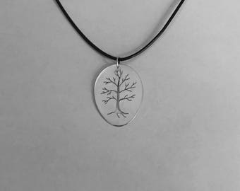 Handmade Sterling Silver Tree Pendant