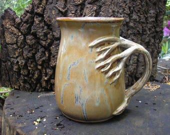 MONSTER Tree  mug for the nature lover, 32 oz. capacity,  tea mug , coffee mug, handmade mug, favorite mug, beer stein, tankard