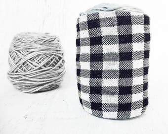 Checkered Yarn Bowl- Black & White Yarn Holder- Yarn Organizer- Yarn Storage- Yarn cozy- Crochet Accessories- Yarn Holder- Skein Coats