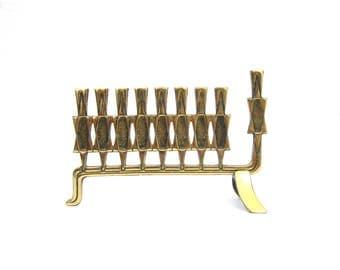 Hen Holon Israel Brass Menorah Candlestick holders Skinny candle holders Gold Metal Folk Home Decor