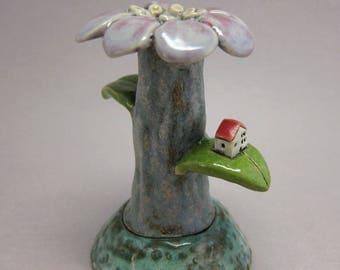 My Place...Stoneware Bud Vase by elukka