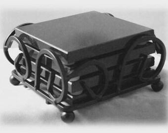 Absolute Black Granite Set of 4 Engraved Coasters