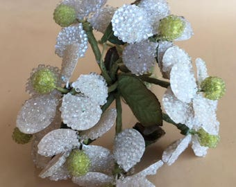 1940's Handmade Beaded Floral Bouquet