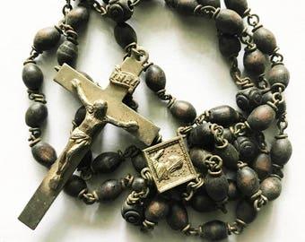 Vintage Black Rosary