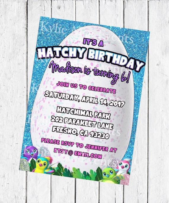 Digital hatchimal birthday party invitation hatchimals birthday il570xn stopboris Gallery