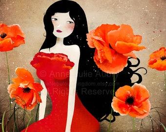 50% Off - Summer SALE - Orange Poppies - open edition print