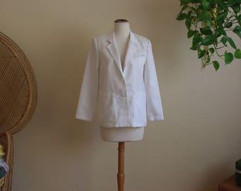 Vintage white Womens blazer 80s