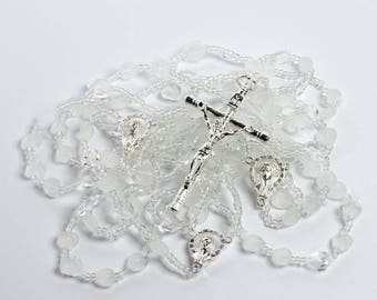 The Heart Shaped Wedding Lazo - Lazo de Bodas Handcrafted Wedding Lasso - Lasso de Bodas with heart shaped crystals and crystal beads