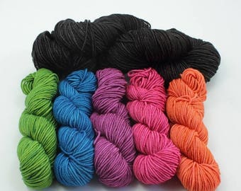BIG SUMMER SALE Striping/Colorwork Set - 200g Jest 3ply Merino/Nylon Sport - Gag Me With a Spoon