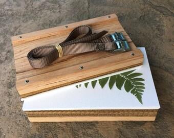 """Solid Oak Plant Press Kit 5.5 x 9"""" (14 x 22.9cm)"""