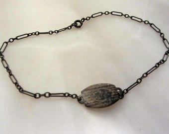 Delicate Bracelet Sterling Silver Sweetheart Link Vintage 1920's