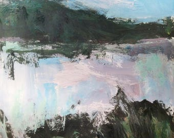 Observing Solitude,  Berkshire Landscape Painting expressive loose impressionist art
