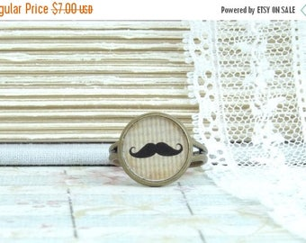 Moustache Ring Victorian Ring Dainty Ring Mustache Gift Moustache Ring Cute Ring Adjustable Ring