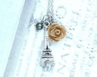 Eiffel Tower Charm Necklace Paris Necklace Eiffel Tower Gift Travel Necklace Eiffel Tower Jewelry