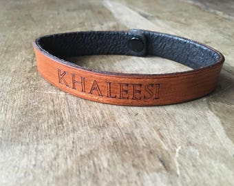 Game of Thrones - Khaleesi - Leather Bracelet