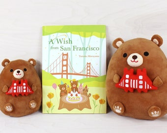 A Wish from San Francisco Gift Set - Children's book and plush toy