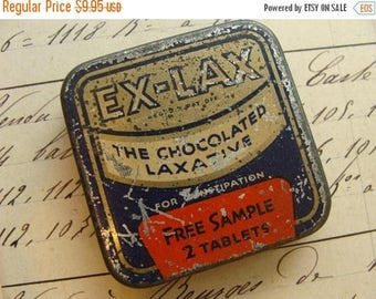 ONSALE Antique Medical Tin Chocolated Laxative