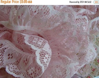 ONSALE Vintage Pink Wedding Lace Yardage Scrumptious Very Soft Lace