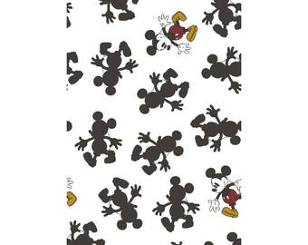 Mickey Mouse Pop Line Dancing FLANNEL Fabric sold by the yard and by the half yard