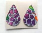 Reclaimed Upcycled Decorative Tin Earring Findings Pair