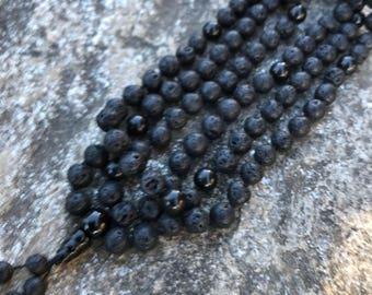 Lava Rock 108 Bead Mala Necklace