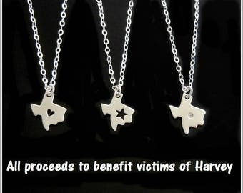 Texas Charm Necklace, Support Texas Jewelry, Proceeds go to Texas Charities, Jewelry for Texas
