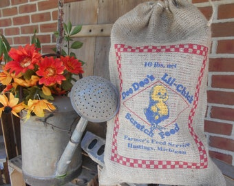 Reserve order for herman1911, Burlap feed sack, chick feed,