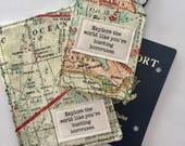 Passport Cover, Luggage Tag, Travel Set, Harry Potter Fan Gift, Graduation Gift, Travel Accessory, Passport Holder, Passport Wallet