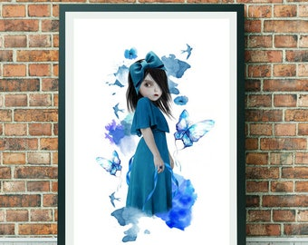 A3 Art Print - A3 Print - Large Print - Wall Decor - Bluebell