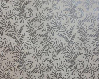 Silver Fern Leaf Wedding Gift Wrap