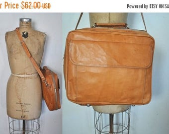 SALE Brown Leather Satchel Mail bag / UNISEX messenger