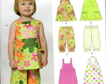 Sewing Pattern - New Look 6906 - Girls Pants Top Dress - Sizes 1/2 to 4