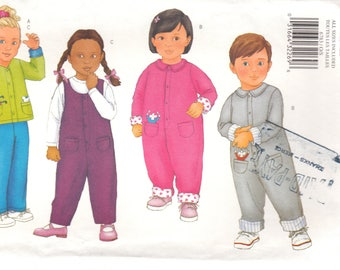 UNCUT Toddlers cardigan and jumsuit size 1-4 Butterick uncut sewing pattern 6783