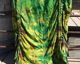 Green Tie Dye Stretch Skirt Size Medium