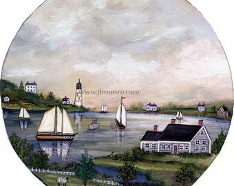 Sailors Valentine Center, ART for Designers Crafters ~ Light House Harbor ~ JL. Munro