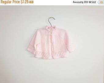 SALE // Vintage Light Pink Baby Sweater