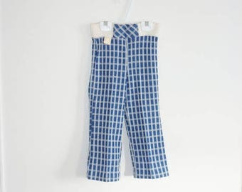 SALE // Vintage Navy Plaid Pants