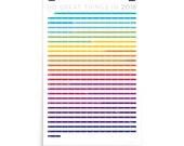 "24""x36"" 2018 Poster Calendar - Rainbow Ribbons"