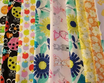 Ouch Pouch Clearance Your Choice 14 Fabrics Assorted Sizes Made to Order Clear Pocket Diaper Bag Purse Organizing Baby Toddler Girl Prints