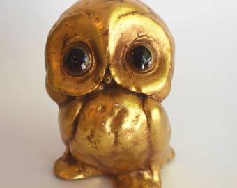 Vintage Freeman McFarlin Owl, Mid Century Pottery, Baby Owl