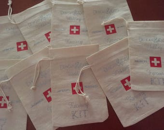 Hangover Kit Bags Set of 5-Recovery Kit-Party Favours-Bridal Shower-Hangover Survival Kit-DIY Bridesmaid Gift-Hens Party