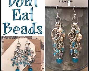Blue Love of Mother Earrings #17july799