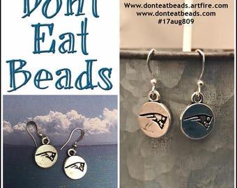 simple patriots earrings #17aug809